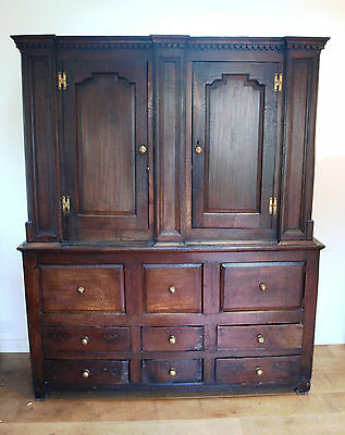 18Th Century English Oak Dresser / Pantry Cupboard