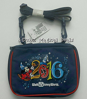NWT 2016 Disney Parks Sorcerer Mickey Walt Disney World Small Pin Trading Bag