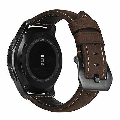 Samsung Gear S3 Watch Band Genuine Leather Replacement Smartwatch Bracelet Strap