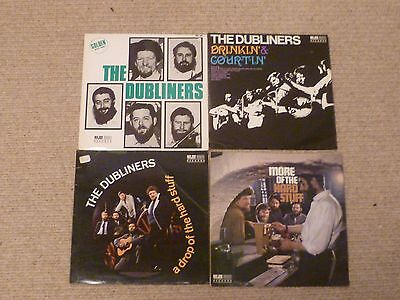 THE DUBLINERS - LARGE LOT OF SEVEN  LPs - IRISH TRADITIONAL FOLK - FREE UK POST