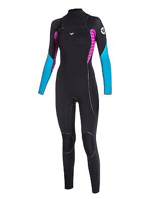 Quiksilver Roxy Womens 3/2mm Black Ignite Chest Zip Wetsuit NWT Size 14