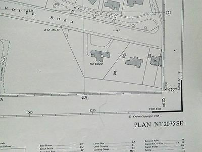 50 inches to the mile OS map sheet NT2075SE Davidson's Mains (1968)