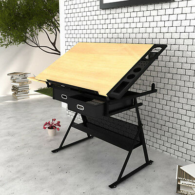 Student Artist Draughtsman Drawing Desk Board Adjustable Table Top + Stool New