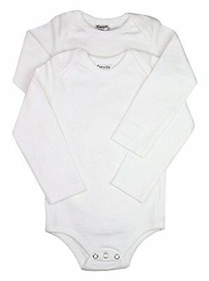 Clips N Grips Baby 2 Pack Long Sleeve Cotton Bodysuits Onesies Undershirts