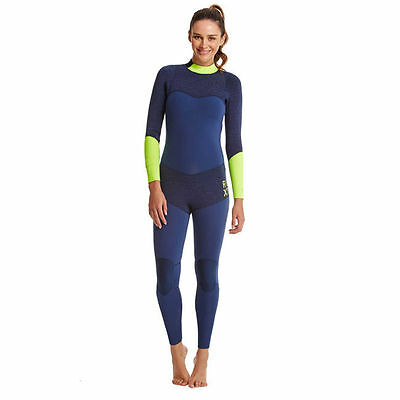 Quiksilver Roxy Womens Blue and Green XY 4/3MM Fullsuit NWT Size 2 $349