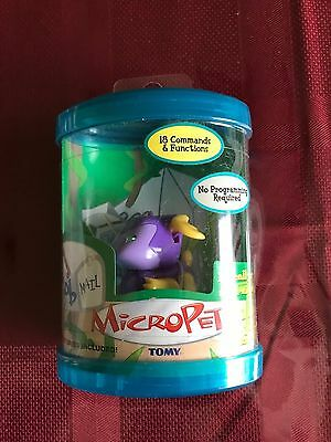 2002 Tomy Micropets Bob Dragon Electronic Interactive Toy MIP