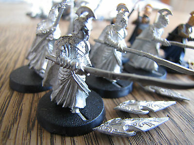 Collectable miniatures Lord of the Rings Hobbit LOTR Elven Soldiers metal 9x