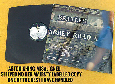 "Beatles "" Abbey Road ""awesome Uk Misaligned Sleeve One Of Best I Have Ever Seen"