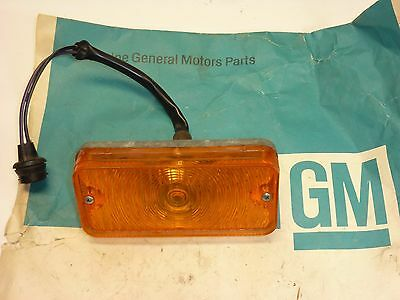NOS GM 67 68 CHEVY TRUCK PARK TURN LIGHT AMBER YELLOW LAMP Chevrolet Dated 67!