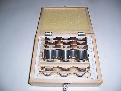 "1/2"" to 1 1/2"" WAVY PARALLEL SET (9 PAIR) ""NEW"""