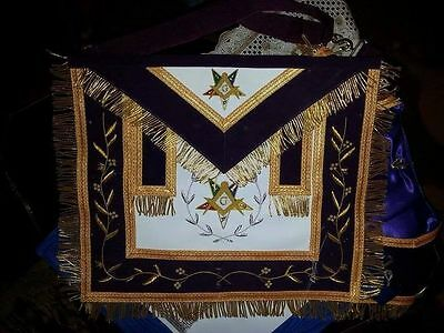 Masonic Regalia Grand Patron Apron Purple