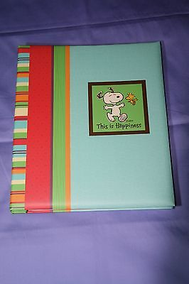 Hallmark Snoopy This Is Happiness Large Post-Bound Photo Album Nib