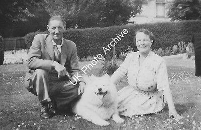 1950s Couple With A Samoyed Photo 6x4