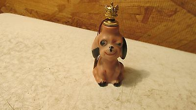 Old Germany Porcelain Winking Dog Perfume Bottle