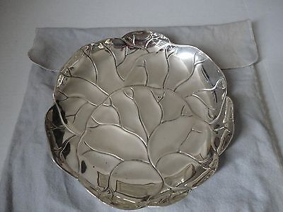 Large Tiffany & Co Sterling Silver Lettuce / Cabbage Leaf Plate 925-1000