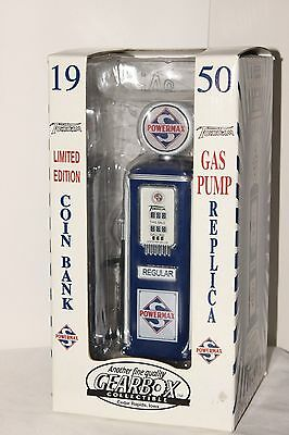Gearbox  Limited Edition 1950 Powermax Die Cast Gas Pump,  Replica  Coin Bank.