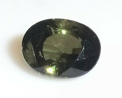 Nice Forest Green TOURMALINE Oval Cut 6.87x5.17 mm 1.10 Ct