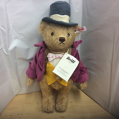 Steiff Willy Wonka Mohair Jointed Bear Limited Edition New For 2016