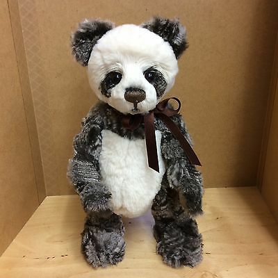 Charlie Bears Dick 10Inch Plush Jointed Standing Panda New For 2016