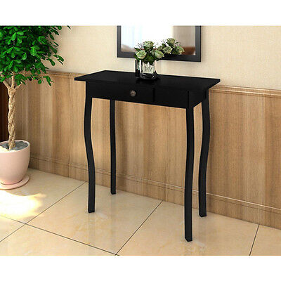High Gloss Black Side End Table Hallway Lamp Stand Wood Tables Cottage Style