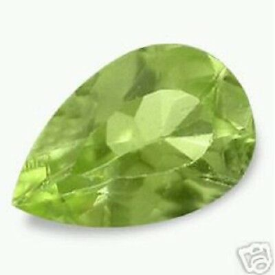 Blazing Green PERIDOT Pear Shape Cut 6x4 mm