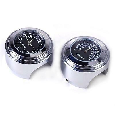 "7/8"" 1"" Motorcycle Accessory Handlebar Mount Clock Watch & Thermometer For KTM"