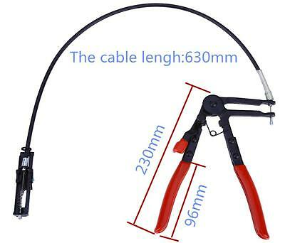 "Car 24"" Flexible Wire Reach Hose Clamp Plier Replace Fuel Oil Water Repair Tool"