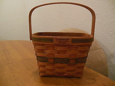 Longaberger Basket Christmas Collection 1989 Holiday Memory