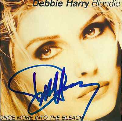 Debbie Harry signed Once More Into the Bleach cd blondie
