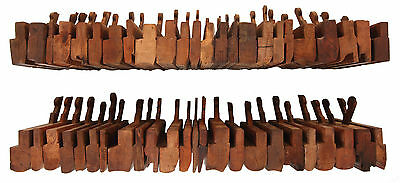 Collection of 48 Assorted Molding Planes - Hollow & Round, Tongue, Center Bead,