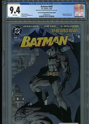 Batman #608   (Second Print / ERROR)    CGC 9.4  WP