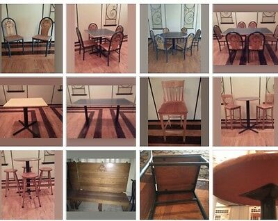 PUB READY 168pc Restaurant Lot - Bar Stools, Chairs, Tables - Sturdy, Well Made