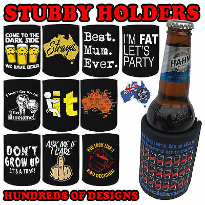 PREMIUM STUBBY HOLDER funny Beer Tin Bottle Can Cooler Present Birthday Gift
