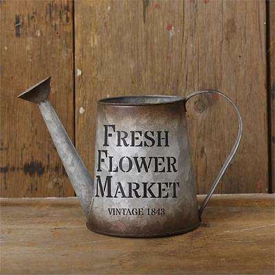 Vintage Style FRESH FLOWER MARKET WATERING CAN Primitive French  Farmhouse