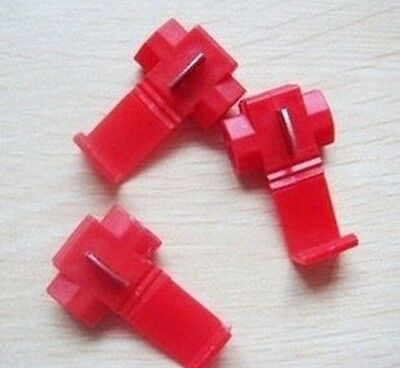 Equipment 50PCS Red Scotch Lock Quick Splice 22-18 AWG Wire Connector
