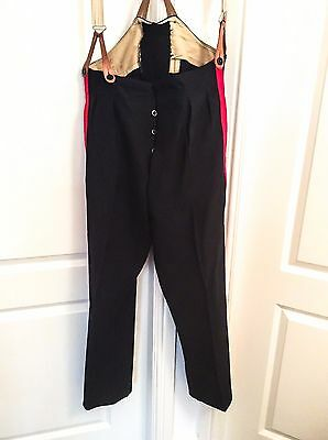 Pair of British Army WW2 1942 Dated No.1 / Mess Dress Parade Trousers & Braces