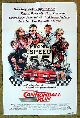 """""""THE CANNONBALL RUN"""" is Wild & Illegal Cross Country Road Race - Movie poster"""