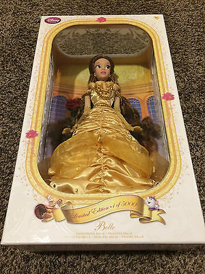 """Disney Store BELLE DOLL 17"""" Princess LIMITED EDITION 1/5000 Beauty & The Beast"""