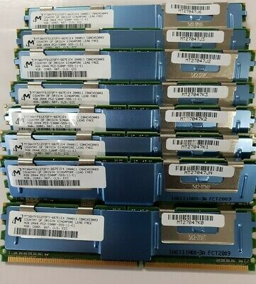 32 GB Memory for Dell 2950 (8 pcs x 4Gb) 2Rx4 PC2-5300F ECC DDR2-667RAM