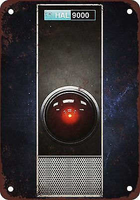 "1968 HAL 9000 of 2001 Space Odyssey 10"" x 7"" Reproduction Metal Sign"
