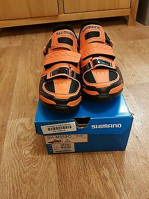 New Shimano SH - M089 Mtb Spd Shoes Orange Size 47