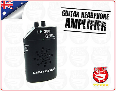 Guitar Headphone Amplifier Mini Portable amp Stereo Clip-on Lisheng LH380