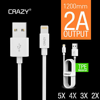 CRAZY Lightning Data Cable Charger for iPhone 5S 5C 6 7 Plus iPad iPod