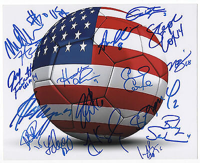 TEAM USA WOMEN'S SOCCER OLYMPIC GOLD MEDALIST SIGNED 8x10 PHOTO 17 AUTO's