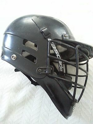 Cascade Lacrosse Helmet Size XXS Black Great Condition!!