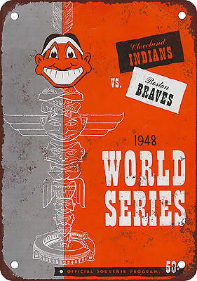 """1948 World Series 10"""" x 7"""" Reproduction Metal Sign"""