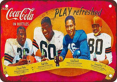 """1950s African-American Football Stars 10"""" x 7"""" Reproduction Metal Sign"""