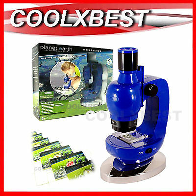 NEW BBC PLANET EARTH MICROSCOPE SET 100 / 300/ 900x STEM LEARNING SCIENCE TOY