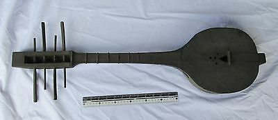 RUSTIC OLD Yao Hill Tribe Teak Wood Guitar 4 Stringed Instrument