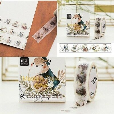 Roll Washi Paper Scrapbooking Decorative Paper Sticker Masking Adhesive Tapes